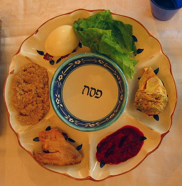 pesach seder plate wikicommons