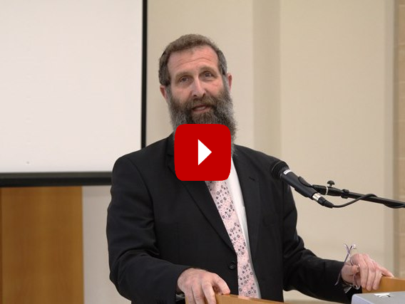 Rabbi Eliahu Birnbaum speaking