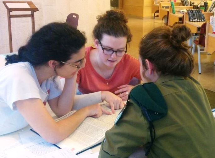 Hadas and Tushia in Beit midrash