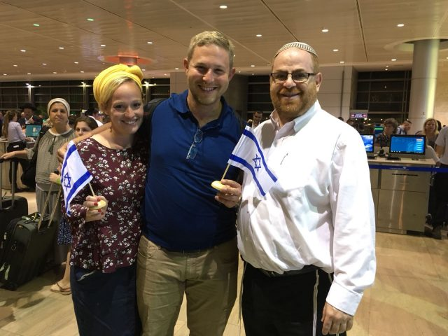 Hacohen family in the Ben Gurion airport