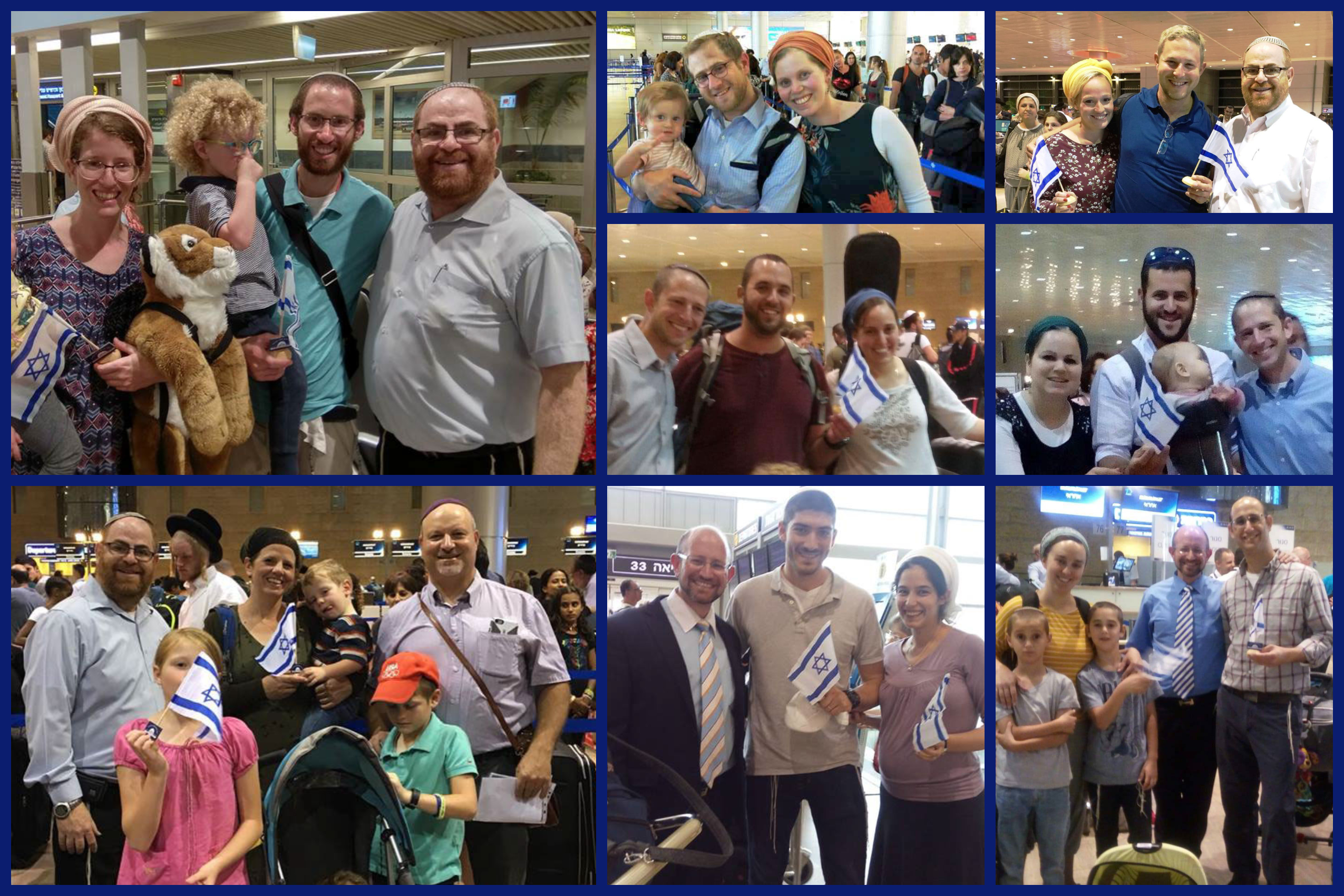 collage of new emissaries leaving the country