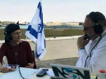 Rabbanit Sally being interviewed by Nachum Segal