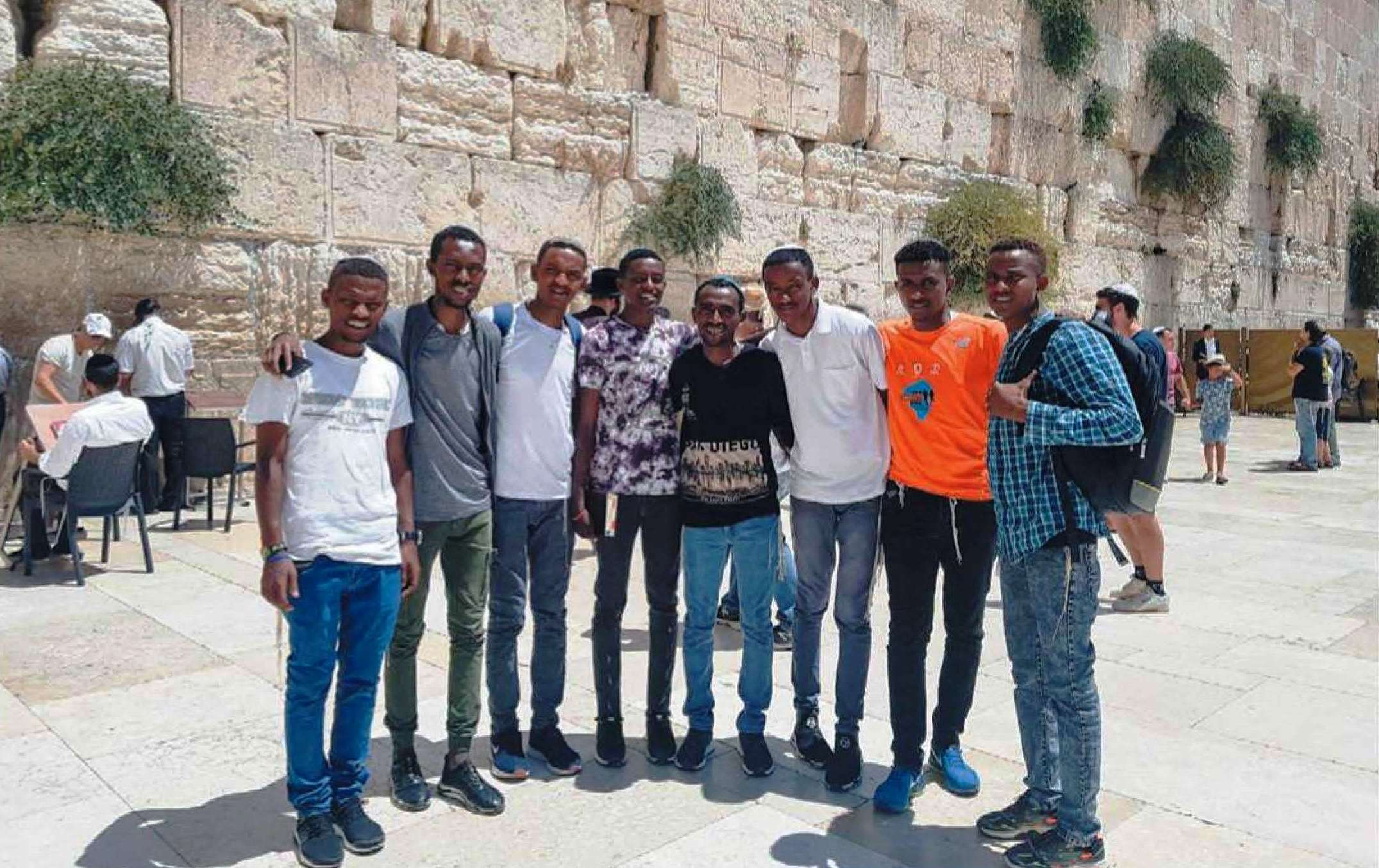 Ethiopian Group at the Kotel