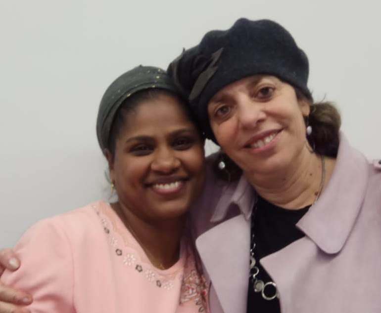 Ilana left and Attorney Tehila COhen