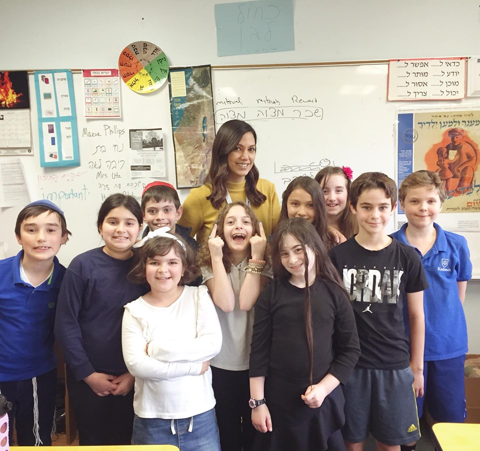 Lital with students in Buffalo