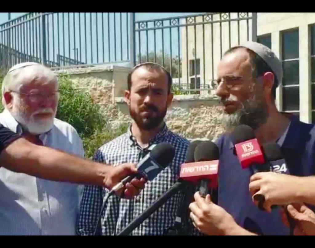 Yinon Ahiman, Rabbi Sarel Rosenblatt, Rabbi Yossi Froman (left to right)