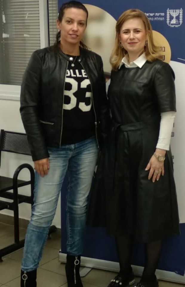Ilanit (left) with advocate Devorah Brisk
