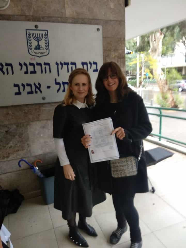Sarah Meizlish with her advocate