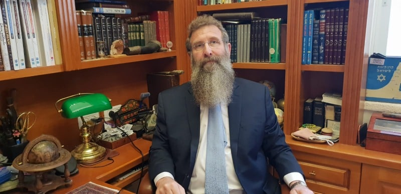 Rabbi Birnbaum in his study