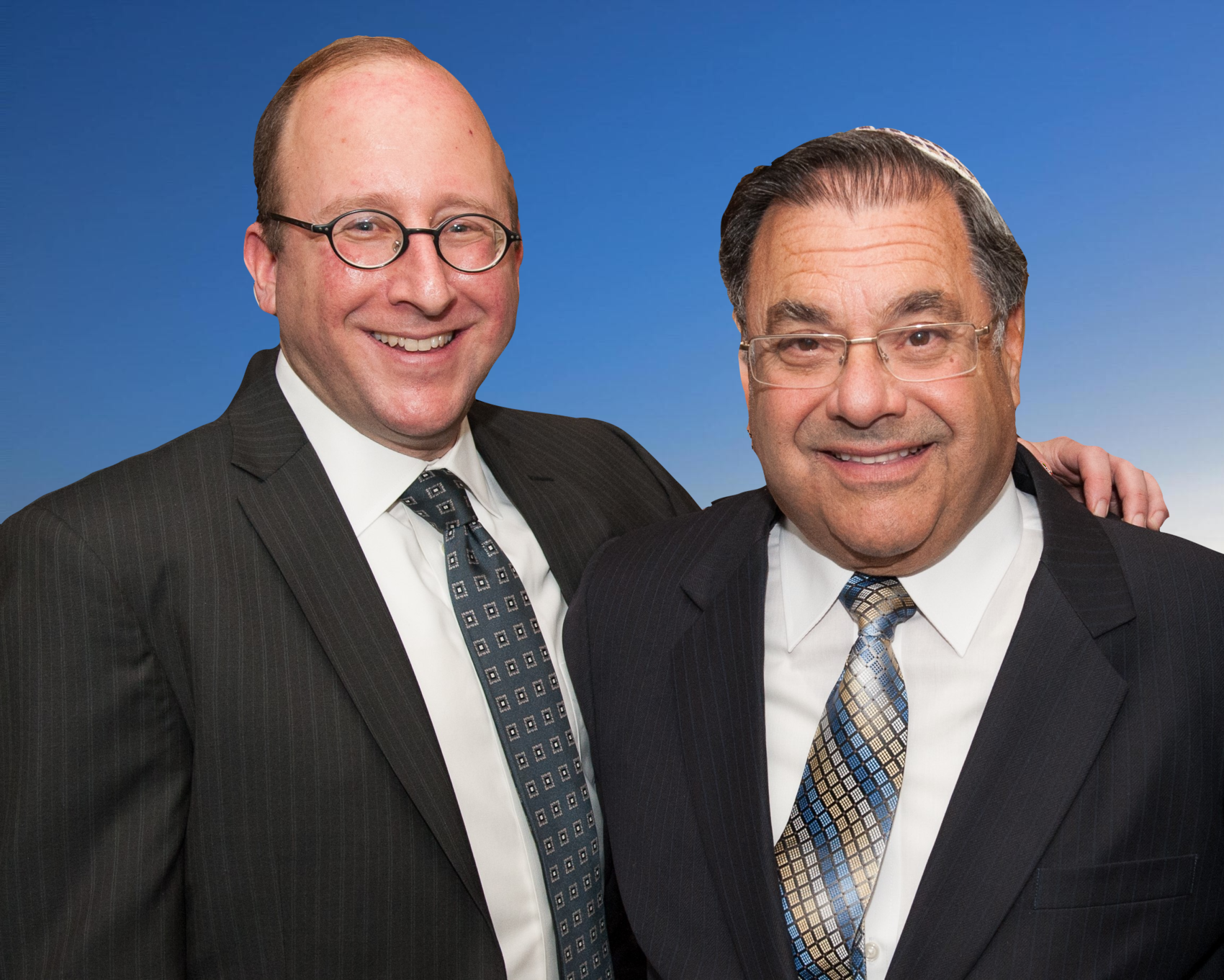 David Moss and Rabbi Shlomo Riskin